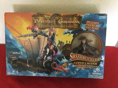 Disney POTC Dead Men Tell No Tells Swashbucklers Coffin Cruiser & Jack Sparrow