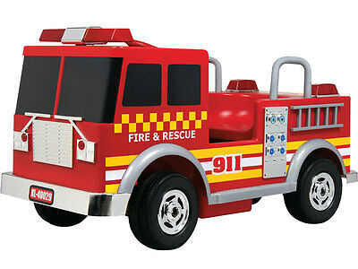 Ride On Firetruck For Kids (Kalee Fire Truck 12v Red - RIDE-ON - Battery - CEC Certified for)