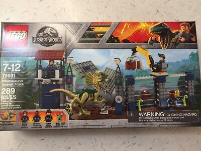 LEGO 75931 Jurassic World Dilophosaurus Outpost Attack Free Shipping NIB SEALED