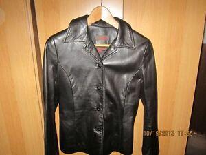 Ladies Black leather jacket $50