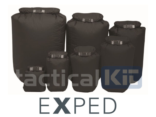EXPED 100% Waterproof Fold Dry Bag Black XXL 40 Litre