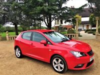 SEAT IBIZA 1.4 Toca, 1 Owner, Full Service History, MOT Sept 2018, Excellent all round (red) 2013