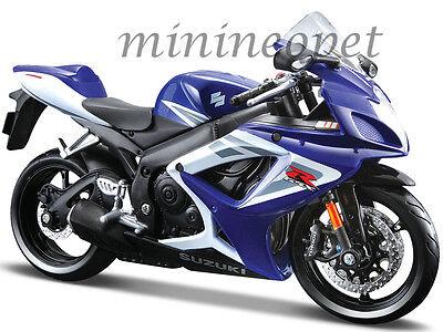 MAISTO 31153 SUZUKI GSX-R 750 BIKE MOTORCYCLE 1/12 BLUE / WHITE
