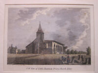 Framed Antique Print - Little Dunmow Priory Church, Essex