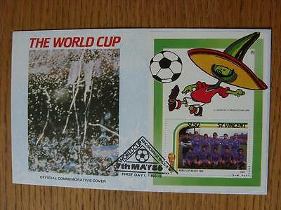 07/05/1986 World Cup Postal Cover: CC 1070 - Argentina Crowd Scene Close Up - St