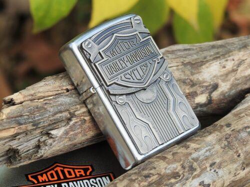 Zippo Lighter - Harley Davidson - H-D Ride - Rare - Pewter Emblem - Model: 20584