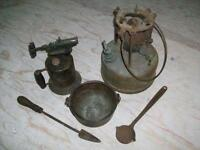Antique plumbers tool kit