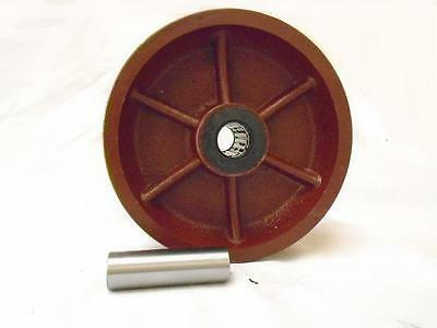 6 X 2 V-groove 78 Ductile Steel Caster Wheel 1500 Lbs