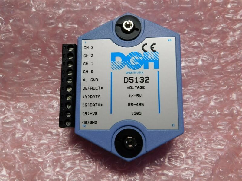 DGH D5132 4-Ch Analog Input to Computer Interface Module 5V In, RS485 Output
