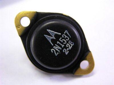 1 Motorola 2n1537 Germanium Pnp 100v 10a Power Transistor To-3 Gold Plated Case