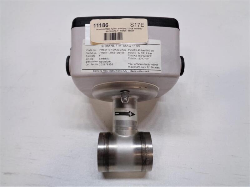 Siemens Sitrans F M MAG 1100 Electromagnetic Flow Sensor 7ME6110-1MA20-2AA2