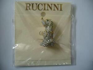 NEW PRETTY POOCH PIN WITH GENUINE RUCINNI CRYSTALS