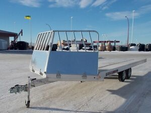2017 Aluma Ltd. 8620 Flatdeck Snowmobile Trailer
