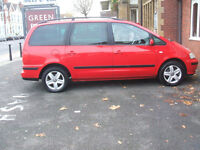 SEAT ALHAMBRA STYLANCE TDI 7 SEATER (red) 2004