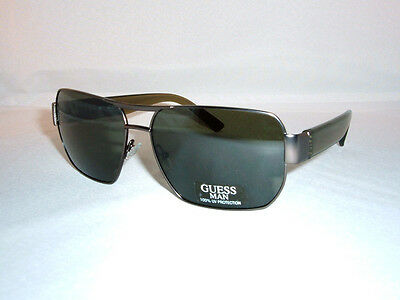 GUESS  Aviator Sonnenbrille GU6670 GUN-2F Gunmetal Transparent Brown / Grey, NEU (Transparent Aviator Sonnenbrille)