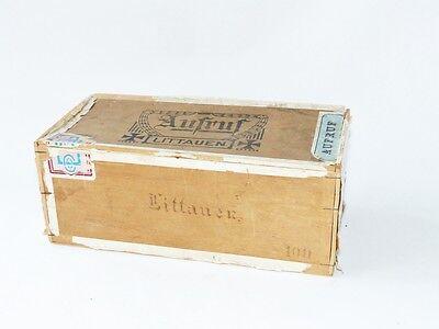 alte große Zigarren Holzkiste  LITTAUEN Aufruf  Preußen  X511