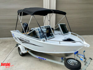 Clark 2019 Alloy 4.38m 430 Bay Hunter boat & Trailer Package 40HP Mercury Ashmore Gold Coast City Preview