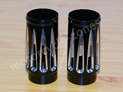 Edge Billet - Edge Cut Black Billet Aluminum Fork Boot Slider Cover Cow RSD For Harley Touring
