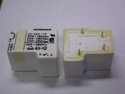 2 Schrack Zd 322 110 Spst 30a 120vac Contacts 110v Coil Power Relays