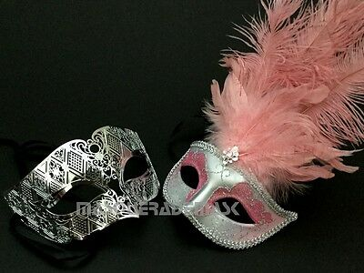 Silver Masquerade Mask Couple Halloween Costume 50 Shades of Grey Burlesque Prom - 50 Shades Of Grey Halloween