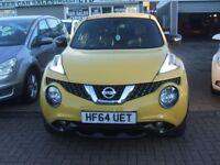 NISSAN JUKE TEKNA XTRONIC AUTOMATIC (yellow) 2014