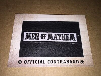 Sons Of Anarchy Replica Patch Official Contraband Card