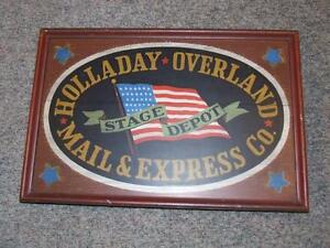 cadre en bois Holladay Overland Mail & Express Co.