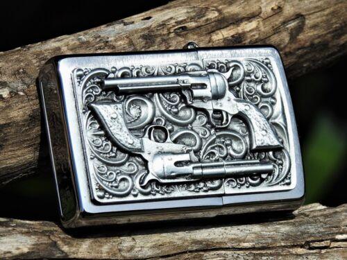 Zippo Lighter - Revolver - European - Rare - Smith & Wesson - Colt M1873 - 1873