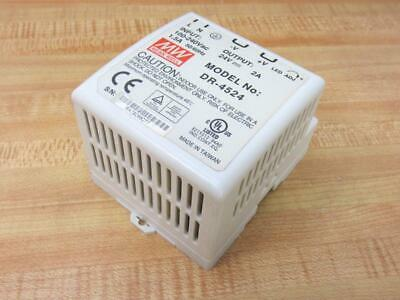 Mw Dr-4524 Acdc Industrial Din Rail Power Supply Dr4524