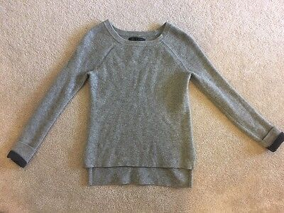 Rag & Bone Gray Wool Pullover Long Sleeve Knit Sweater Women's Size XS