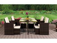 **FREE & FAST UK DELIVERY** 8 Seater Rattan Garden Furniture Cube Set in Various Colours