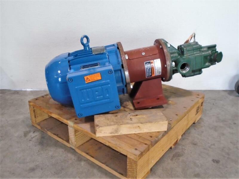 Roper Gear Pump, Type 1, Fig 18AM16 with WEG 3 HP Motor 00318XT3E182TC