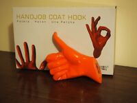 Handjob coat hook, thumbs up: Thelermont Hupton