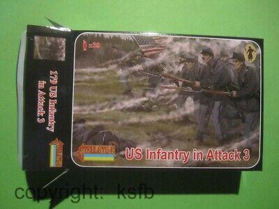 1:72 Strelets #179 US Bürgerkrieg Nordstaaten Armee stürmend Set 3 Union Soldier
