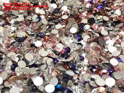 Today's Deals Multicolor Swarovski crystal flatbacks rhinestones MIXED COLORS ()