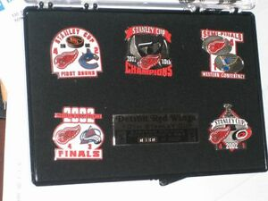 Hockey Red Wings AllStar Game Pins Sets WWE + Hockey Bobblehead