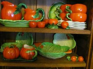 Collection of Tomato Ware and Leaf Ware