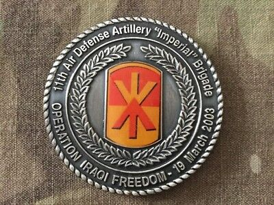 US Army 111th Air Defense Artillery Imperial Brigade OIF 2003 Challenge Coin