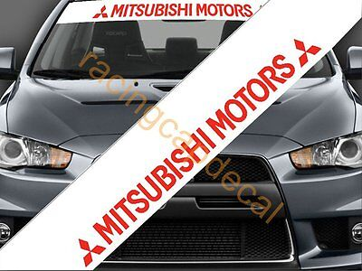 (Mitsubishi motors Sun Strip Visor Windshield banner Decal Sticker outlander colt)