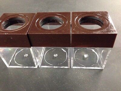 Magnetic Paper Clip Holder 3 Pieces Brown