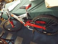 hydra sentinal mountain bike large frame disc brake and quick release wheels 26 inch