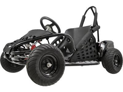 MotoTec Off Road Go Kart 48v 1000w Black Roll Cage Positraction Hydraulic Brakes
