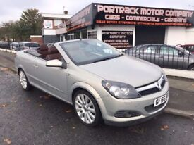 2006 56 VAUXHAULL ASTRA 1.9CDTI DESIGN TWIN TOP CONVERTIBLE FULL BROWN LEATHER FULL HISTORY