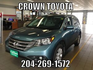 2014 HONDA CR-V TOURING AWD! ONE OWNER, LOCAL TRADE IN! @ CROWN