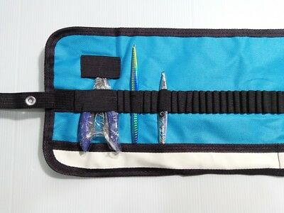 Fishing Jig Bags Lure Bags Pockets Tackle Gear Bags  48 Holes On Roll Blue