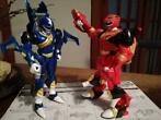 set van 2 Power Rangers: Blue en Red Zord