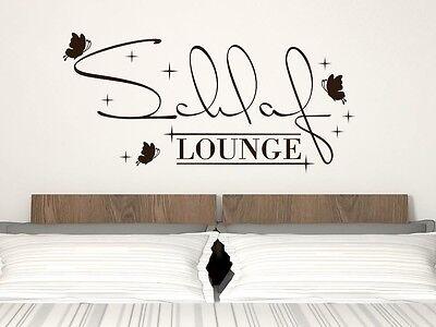 Wandtattoo für Schlafzimmer Deko Wandtatoo Aufkleber Sprüche Schlaf Lounge