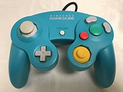 Used Nintendo GameCube dedicated controller emerald blue