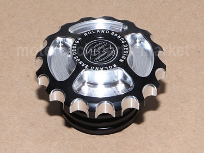 Gear Rsd Fuel Gas Tank Cap Cover For Harley Dyna Softail Sportster Edge Cut Usa