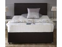 BRAND NEW KING SIZE DIVAN BED WITH MATTRESS £109 - FREE DELIVERY BASE ONLY £59